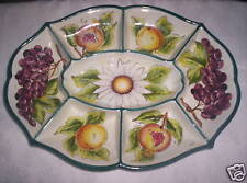 antipastiera sette posti in ceramica