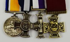 Superb Set of 4 Full Size Replica WW1 WW2 War Medals Gallantry/Service/Conduct