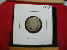 1919  CANADA SILVER DIME   CANADIAN   10  CENT COIN  19  GOOD  GRADE  SEE PHOTOS
