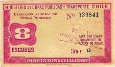 CHILE / MINISTRY OF PUBLIC WORKS AND TRANSPORTATION BOND, 8 ESCUDOS 1972