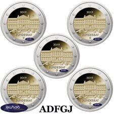 5 x 2 euros commémoratives ALLEMAGNE 2019 - Bundesrat allemand - Ateliers ADFGJ