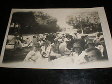 Old real photo RPPC postcard picnic in a Park France  c1930s