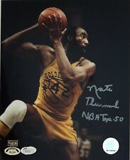 "Nate Thurmond Signed 8x10 Photo HOF, Warriors, Insc ""NBA Top 50"" JSA Auth"