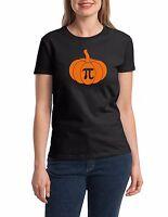 Ladies Pumpkin Pi Shirt Math Geeks Funny Halloween Tee Thanksgiving Pie T-Shirt