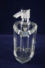 Glass & Silver Tone Pump Kitchen Bath Soap Dispenser Heavy