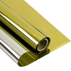 Mirrored Gold&silver Window Film One way House/Building Reflection HOHOFILM