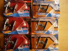 HOT WHEELS X6 STAR WARS TIE-FIGHTERS WITH FLIGHT NAVIGATOR MINT ON CARD