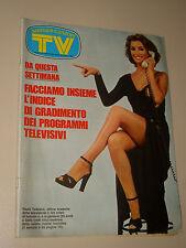 TV SORRISI CANZONI=1975/46=PAOLA TEDESCO=LUCIO BATTISTI=MACARIO=GABRIELLA FERRI=