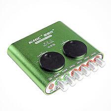 KMIC KX-2 USB External Audio Sound Cards 2.1 for Desktop Laptop Computer Karaoke