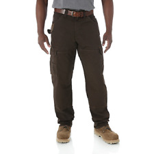 WRANGLER Riggs Workwear Ripstop Ranger Dark Brown Cargo Pants Mens 38x30 3WO60DB
