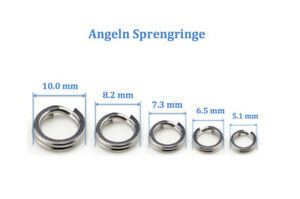 10 Stück 🎣 SPRENGRINGE 🎣 split ring / runde Springringe für Angeln / SPLITRING