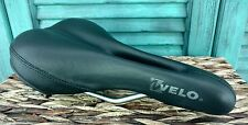 Velo Bicycle Bike Sport Seat Air Flow Black Good Condition No Tears or Road Rash