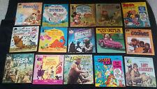 Vtg LOT 15 CHILDREN'S BOOKS w/ RECORDS Disney Others 45 & 33-1/3 RPM