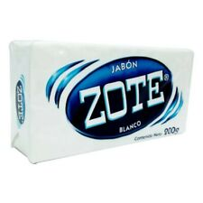 2 PACK - Zote Soap and Stain Remover, 200g Bar (7.5 oz) White, clean scent.
