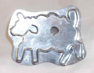 Contemporary B. Cukla Tin Cookie Cutter W/ Handle Sheep Standing on Four Design