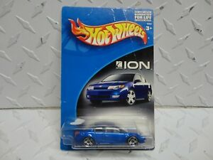 Hot Wheels Ltd Edition Blue Saturn ION Quad Coupe on Imperfect Card