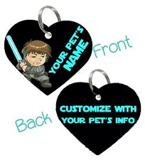 Disney Luke Skywalker 2-Sided Pet Id Dog & Cat Tag Personalized For Your Pet
