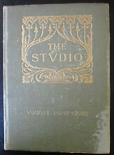 REVUES THE STUDIO 1909 - 1910  PEINTURES ARCHITECTURES ARTS DECO DESIGN VITRAUX