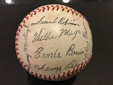 1959 PITTSBURGH ALL STAR GAME FACSIMILE TEAM SIGNED BASEBALL SOUVENIR STAND