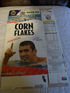 Michael Phelps Flattened 2008 Summer Olympics Corn Flakes Cereal Box