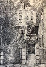Bagnoles-de-l'Orne  dessin à l'encre signé  F.Nouaille 1951 Orne France