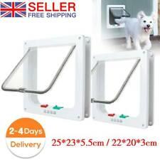More details for pet door frame 4 way locking small medium large dog cat flap magnetic abs uk