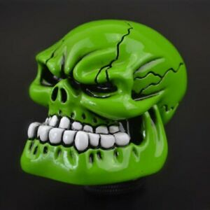 Green Skull Head Universal Car Truck Manual Stick Gear Shift Knob Lever Shifter