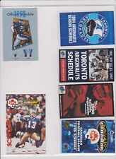 6X CFL Football Official Pocket Schedules Toronto Argonauts 1991 1996 1992 1997
