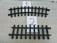 "New Bright Train Tracks ""G"" Scale Curved / Straight w/ Left hand Connector"