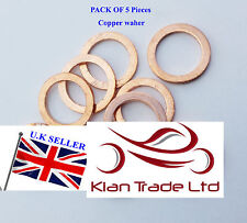 5 pcs x M30 copper sump plug washer SEALING BANJO GASKET Drain fuel M30X40X1.5