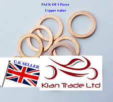 5 pcs x M36 copper sump plug washer SEALING BANJO GASKET Drain fuel M36X45X1.5