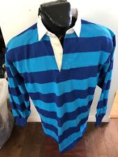 MENS Medium Rugby Jersey Barbarian Two Tone Blue