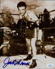 Jake LaMotta Raging Bull Boxing Signed 8x10 Glossy Photo JSA Authenticated