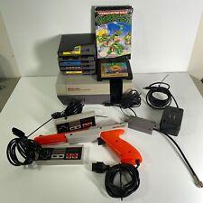 Original Nintendo Console System Bundle Controllers 7 Games Zapper Tested Mario