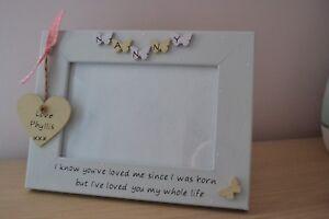 Personalised handmade photo frame NAN NANNY GRANDMA - love you my whole life