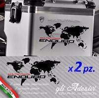 2 Adesivi valigie Ducati Multistrada ENDURO alluminio planisfero