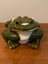 Vintage Arnel #517 Large Ceramic Toad Frog Glazed Pottery