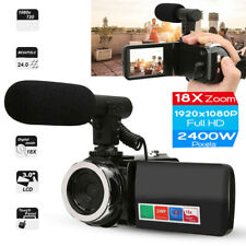 Camcorder Video Camera,Ultra HD 3 inch 18X  Vlogging Camera 24MP Microphone