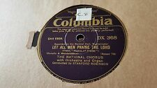 THE NATIONAL CHORUS-LET ALL MEN PRAISE THE LORD & STRONGHOLD SURE COLUMBIA DX368