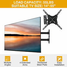 "Full Motion TV Wall Mount LED LCD Flat Screen 14""17""19""25""29""34""40""45""49""52""55"""