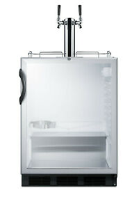 """Summit SBC56GBIADA 24""""W 5.5 Cu. Ft. Built-In Commercial Double - Glass"""