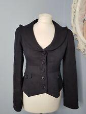 Designer Nanette Lepore nautical theme fitted smart navy jacket  size 4