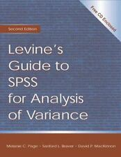 Levine's Guide to SPSS for Analysis of Variance, Braver, Sanford L., MacKinnon,