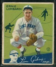 1935 GOUDEY BASEBALL CINCINNATI REDS ERNIE LOMBARDI ROOKIE CARD RC HOF #35 EX