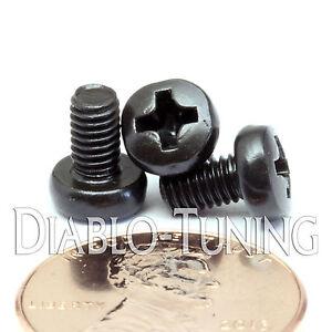 M3.5 - 0.6 x 6mm - Qty 10 - Phillips Pan Head Machine Screws DIN 7985 A Black Ox