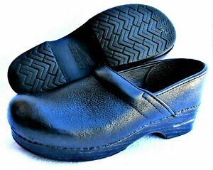 Dansko Professional Comfort Clogs Nursing Womens 10 EU42 Pebbled Leather Texture