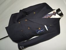 NWT Hardy Amies men's Double Breasted Blue blazer jacket coat 38 S NEW!