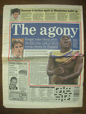 VINTAGE NEWSPAPER DAILY MAIL JUNE 21st 2000 ENGLAND CRASH OUT OF EURO 2000