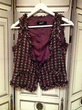 veste gilet Jeff Gallano tweed couture Taille 1 NEUF