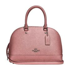 NWT COACH Mini Sierra Satchel Crossbody Bag Metallic Dusty Blush Pink F29170